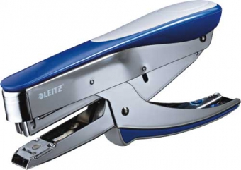 Capsator de mana, 15 coli, capse nr. 10, LEITZ Jumbo 5545 - albastru metalizat
