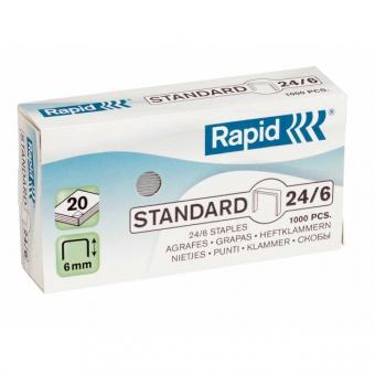 Capse 24/6, 1000 buc/cutie, RAPID Standard