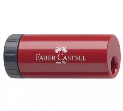 Ascutitoare plastic simpla cu container rosie/albastra Faber-Castell