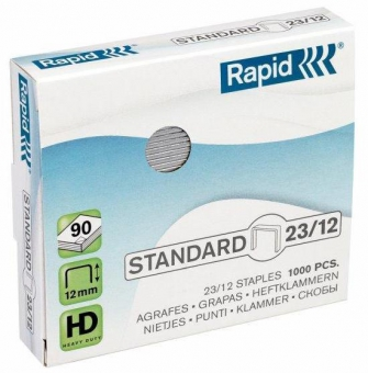 Capse 23/12, 1000 buc/cutie, RAPID Standard