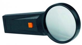 Lupa D75mm, cu lumina, 4x, ALCO - forma rotunda