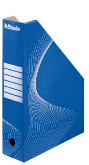 Suport vertical pentru cataloage, din carton albastru, ESSELTE