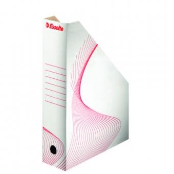 Suport vertical pentru cataloage, din carton alb, ESSELTE
