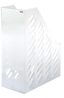Suport vertical plastic pentru cataloage HAN Brillant XXL - transparent mat