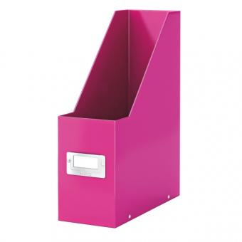 Suport vertical pentru cataloage, LEITZ Click & Store, carton laminat - roz