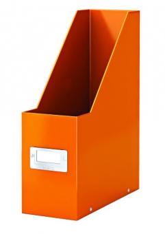 Suport vertical pentru cataloage, LEITZ Click & Store, carton laminat - portocaliu