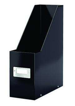 Suport vertical pentru cataloage, LEITZ Click & Store, carton laminat - negru