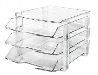 Set 3 tavi documente + 1 suport telefon fix, HAN Wave - transparent cristal
