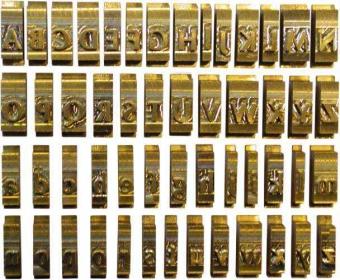 Set litere cu font Romanesc, 5,5 mm, 57 litere/set, OPUS