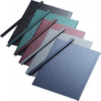 Sina metalica structura panzata, A4, 261-300 pag.(32 mm) 10 buc/set, Metal -BIND OPUS - albastru
