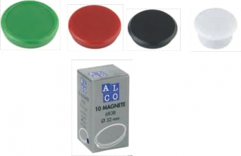 Magneti 32mm, 10/cutie, ALCO - alb