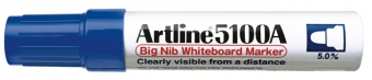 Marker pentru tabla de scris ARTLINE 5100A, corp metalic, varf rotund 5.0mm - albastru