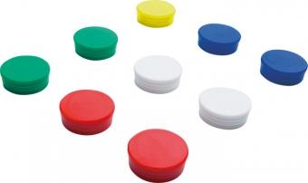 Magneti D30 mm, 10/set, SMIT - rosu