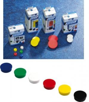 Magneti D30 mm, 10/set, SMIT - albastru
