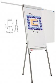 Flipchart magnetic, 105 x 70 cm, cu brate laterale, SMIT Standard Plus