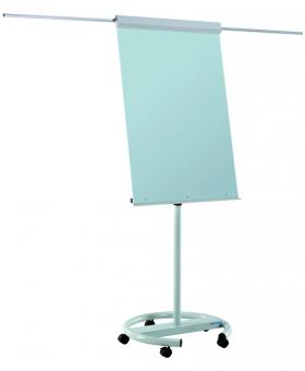 Flipchart magnetic, din sticla, 106 x 72 cm, cu brate laterale, cu rotile, SMIT Vario
