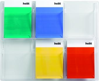 Display pentru pliante, de perete,  6 x A4, HELIT - transparent