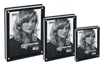 Display acrilic cu magneti, pentru fotografii, 153 x 102mm, KEJEA - transparent/negru