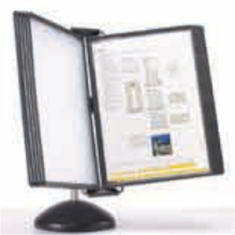 Display birou (suport pentru 10 buzunare A4), PROBECO-Vip - antracit