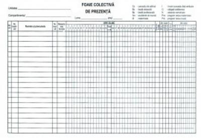 Condica prezenta 100 file A4 fata-verso