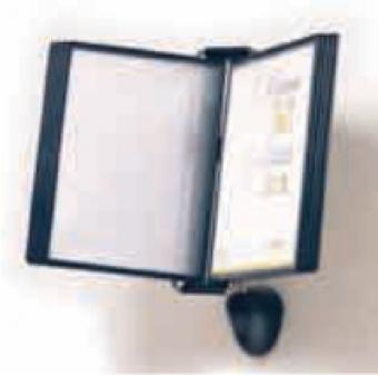 Display perete (suport pentru 10 buzunare A4), PROBECO-Vip - antracit