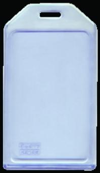 Buzunar PVC flexibil, pentru ID carduri,  54 x  85mm, vertical, 5 buc/set, KEJEA - transparent