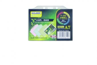 Suport PP, pentru carduri, 105 x  74mm, orizontal cu sistem de agatare, 10 buc/set, KEJEA - transp.