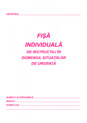 Fisa individuala psi