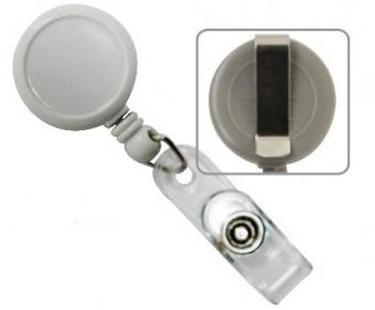 Dispozitiv cu snur retractabil pt. legitimatii, rotund-D20mm, clips curea, KEJEA - culori asortate