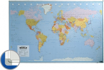 Harta lumii (politica) 100 x 136 cm, profil aluminiu SL, SMIT