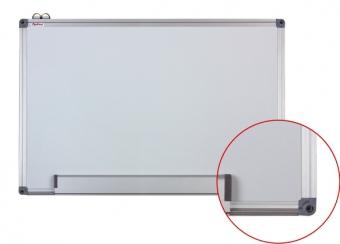 Tabla alba magnetica cu rama din aluminiu, 120 x 200 cm, Optima