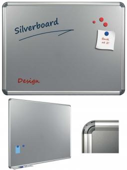Tabla argintie magnetica  90 x 120 cm, profil aluminiu Design, SMIT
