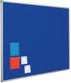 Panou textil albastru 120 x 180 cm, profil aluminiu SL, SMIT