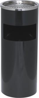 Cos metalic cu scrumiera, 30 litri, ALCO - negru