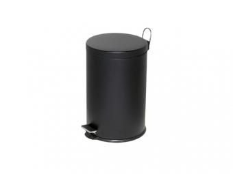 Cos metalic cu pedala si capac, forma rotunda, 20 litri, ALCO - negru