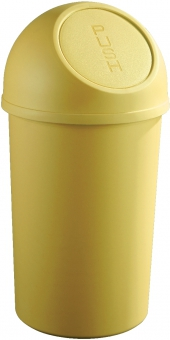 Cos plastic cu capac, pentru reziduuri, 25 litri, HELIT - galben