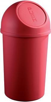 Cos plastic cu capac, pentru reziduuri, 45 litri, HELIT - rosu