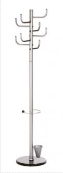 Cuier metalic argintiu,172/40cm, ALCO