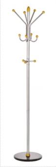 Cuier metalic argintiu cu accesorii din lemn, 185/40cm, ALCO