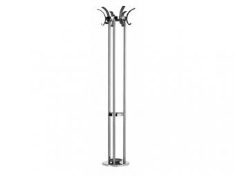 Cuier metalic cromat ALCO Design, cu 6 agatatori din acril, suport umbrele