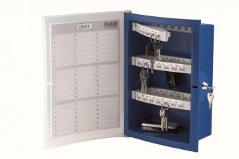 Panou plastic pentru 63 de chei, HAN Index - albastru