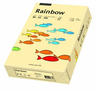 Hartie colorata ivoire Rainbow A4, 80gr/mp, 500coli/top