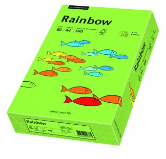 Hartie colorata verde Rainbow A4, 80gr/mp, 500coli/top