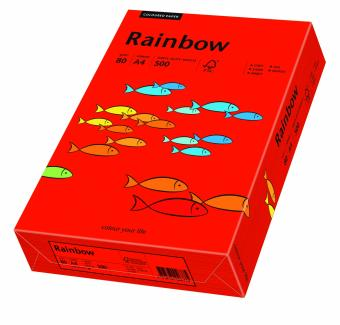 Hartie colorata rosu intens Rainbow A4, 80gr/mp, 500coli/top