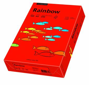 Hartie colorata rosu intens Rainbow A4, 160gr/mp, 250coli/top