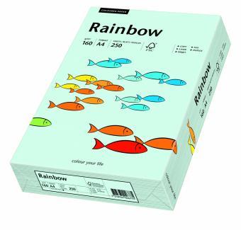 Hartie colorata albastru pal Rainbow A4, 160gr/mp, 250coli/top