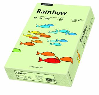Hartie colorata verde pal Rainbow A4, 80gr/mp, 500coli/top