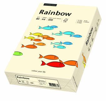 Hartie colorata galben pal Rainbow A4, 80gr/mp, 500coli/top