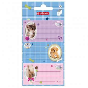 Etichete scolare Pretty Pets Pisica/Caine/Cal set 3X3 coli