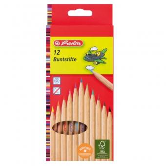 Creioane color natur 1/1 set 12 bucati